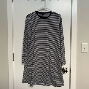 J.Crew Swingy Long Sleeve Dress, w/ Pockets